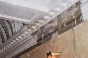 damaged victorian cornice