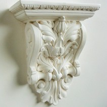 Decorative plaster corbel