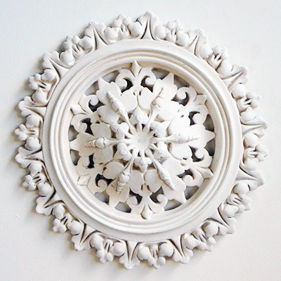 Decorative plaster ceiling roses or centres, Portsmouth, Hampshire.
