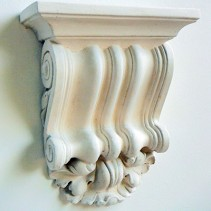 Traditional plaster corbel